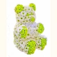 Северный мишка Состав: хризантема- 55 веток, флористический декор. Размер: 40 см.