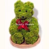 Медвежонок Состав: хризантема Филин Грин- 50 шт, флористический декор. Размер: 40 см.