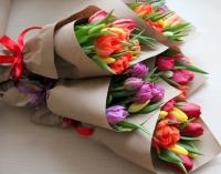 Корпоративный букет Тюльпаны