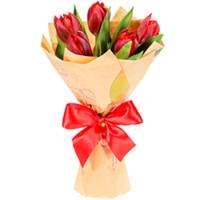 Букет корпоративный Улыбка Минимальный заказ- 5 букетов. Состав букета:тюльпаны- 5 шт. Оформление: бумага