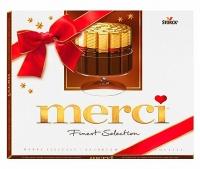 Конфеты Merci Конфеты Mersi- это прекрасный способ поздравить близкого Вам человека с праздником или просто знак внимания любимой девушке. Коробочка конфет будет прекрасным дополнением к Вашему букету. Побалуйте своих родных и близких сладеньким. Вес: 250 гр.
